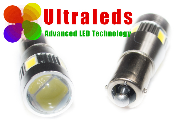 Postojówki LED canbus H6W BA9S - 6 LED x SMD 5630 + soczewka